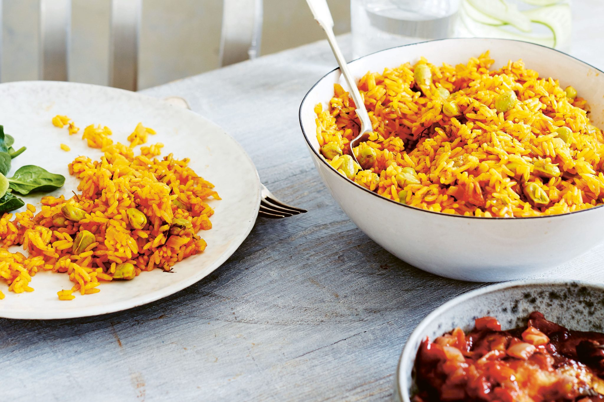 Saffron Rice With Raisins And Pine Nuts Jmore